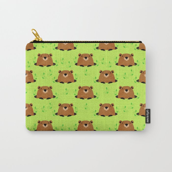 Adorable Groundhog Pattern Carry All Pouch from Society6