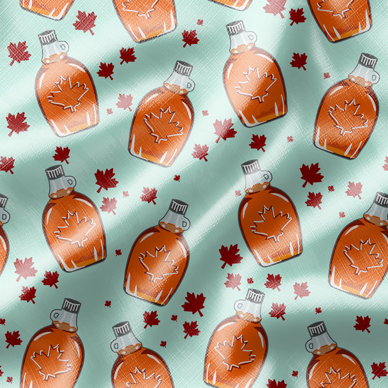 Maple Syrup Pattern Fabric