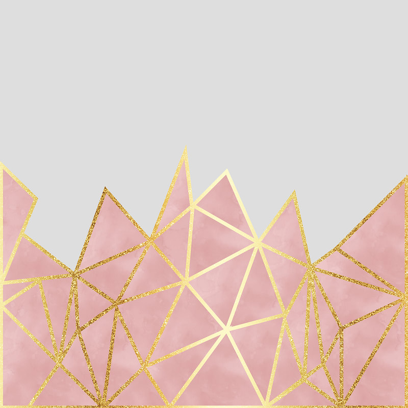 Pink & Gold Geometric Design by TanyaDraws