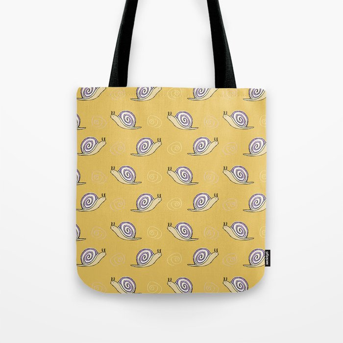 Hand Drawn Snail Tote Bag from Society6