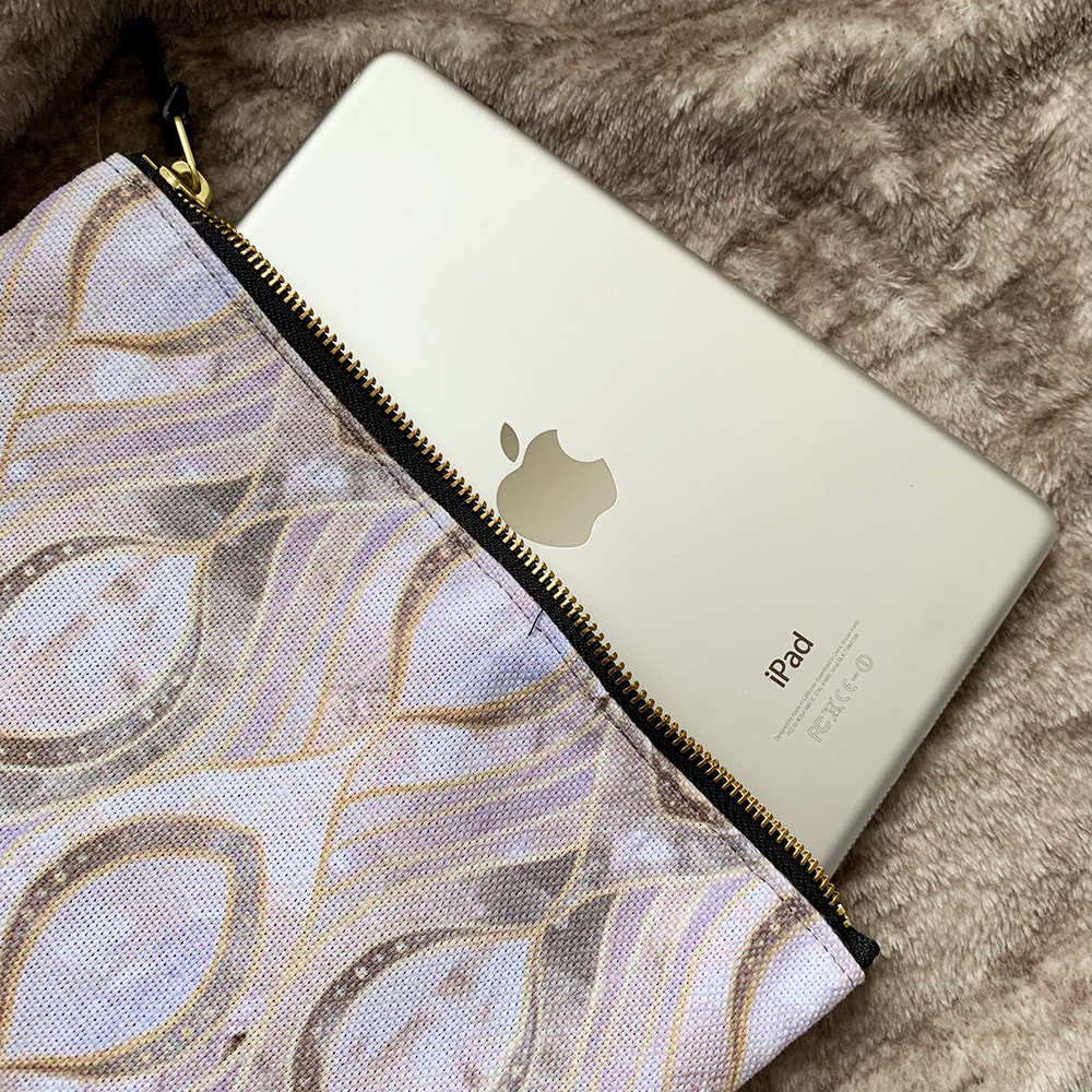 iPad mini in a Society6 Carry All Pouch