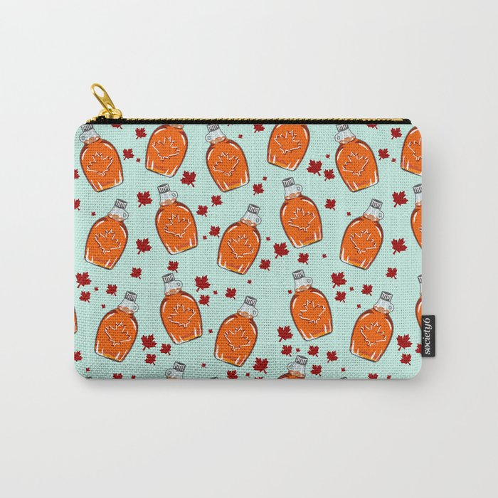 Canadian Maple Syrup Pattern Carry All Pouch from Society6