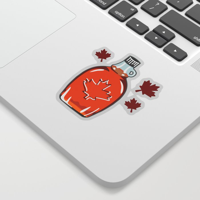 Canadian Maple Syrup Jug Sticker from Society6