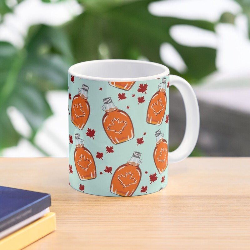 Canadian Maple Syrup Pattern Mug - RedBubble